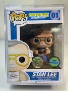 Funko Pop Stan Lee 01 Signed Convention Exclusive.com 24/25 With Hard Protector