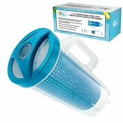 Professional In-line Pool Leaf Canister With Large Plastic Mesh Basket And Mesh