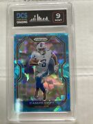 2020 Panini Prizm Dand039andre Swift Blue Cracked Ice Rookie Card 358 Rc /99 Dcs 9