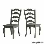 Eleanor Black Farmhouse Trestle Base French Ladder Back Antique Grey Chairs And