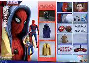 Hot Toys Mms426 Spider-man Homecoming Deluxe Version Peter Parker Figure New