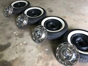 1959 - 1962 Wheels Hubcaps Made In Usacooker Classic Radial Tires. Like New
