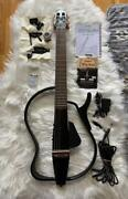 Yamaha Slg110n Silent Electric Guitar W/case And Accessories Used Working Tested