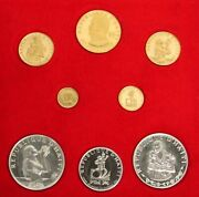 1973 Gold And Silver Haiti Gourdes 9 Coin Proof Box Set 1,250 Minted