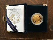 2006-w 50 Proof American Gold Buffalo 1 Oz. .9999 Gold Coin With Box And Coa