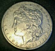 1904-p Morgan Silver Dollar Xf. Slight Luster. Coin From An Estate