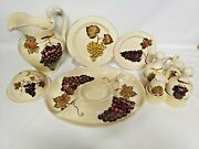 Tabletops Unlimited Villa Grande Large Set Pitcher Cruets And Holder Cheese Dome