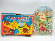 Vintage Marx 16 Table Top Pinball Game The Big Game Bagatelle With Damaged Box