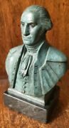 George Washington Bronze Statue On Marble By Polich Tallix Foundry Rare