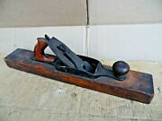 Antique 20 Wood Plane Planer Transitional Wood And Cast Metal 2 1/2 Blade Usa