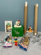 Disney...snowbabies, Posters, Baby Spoon, Washmitt, Pluto Ornament And More