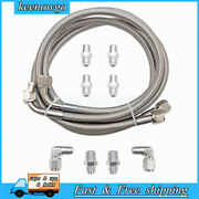 New Fit An6 Transmission Cooler Hose Fitting 50 Braided Ss Lines Gm Chevy Ford