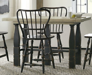 New Rustic Farmhouse Style Extending Dining Table Or Desk With Adjustable Height