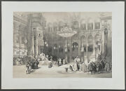 David Roberts - Church Of The Holy Sepulchre. 81, 1849 Folio Duotone Lithograph