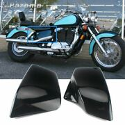Pair Abs Side Battery Cover For 1999-2008 Honda Shadow Ace Aero Vt1100 C/c2/c3