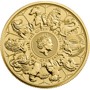 2021 Uk Queenand039s Beasts Completer 1oz Gold Coin Lion Bull Horse Yale Pre-order