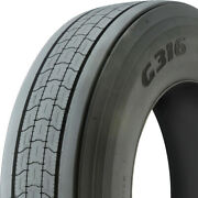 4 Goodyear G316 Lht Fuel Max 285/75r24.5 Load G 14 Ply Trailer Commercial Tires
