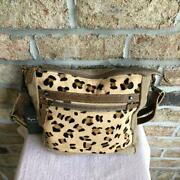 Myra Bag True Essence Canvas Leather And Hairon Bag S-2885 Nwt - Free Shipping