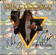 Alice Cooper Welcome To My Nightmare Vinyl Lp Tony Levin Poison Autograph Signed