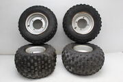 1999 Yamaha Blaster200 Yfs200 Rear And Front Wheels Rims W Tires