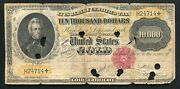 Fr. 1225c 1900 10000 Ten Thousand Dollars Gold Certificate Currency Note Rare