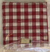 Longaberger Picnic Plaid Fabric 5 Yards 2820871 Red White Checked Christmas New