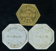Lot Of Three 3 Subway Cigar Store Trade Tokens 1- 5 Cent And 2- 25 Cent -- Look