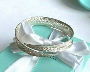 And Co Silver Woven Wrap Cuff Bangle Bracelet Rare And Stunning