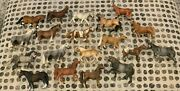 Lot Of 18 Schleich Horses Retired Toy Animal Horse Lot 2001-2009 Clydesdale +