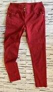 Internacionale Red Skinny High Waisted Jeans Size 14 Smart Casual
