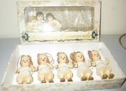 Katherine's Collection Baby Dolls Victorian Christmas Ornaments Set 5 New + Box