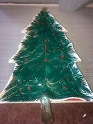 Vtg Christmas Tree Shaped Candy Dish Tray Hand Painted Made In Italy 22/324