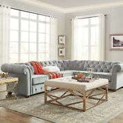 Knightsbridge Chesterfield 6-seat Sectional By Inspire Q