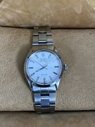 Vintage Rolex Air King 5500 Precision Automatic White Dial 34mm Steel Watch