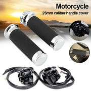 2pc 7/8 Motorcycle Handlebar Horn Button Turn Signal Controller Switch+grip