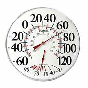 Outdoor Thermometer Large Digits Humidiguide Dial Indoor Temperature 12 Inch