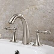 Widespread Bathroom Basin Faucet Dual Handles Free Expedited Shipping