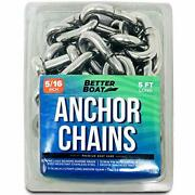 Stainless Steel Anchor Chain And Double Shackle Link Ends Marine Grade