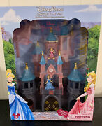 New Disney Parks Princess Castle Playset For Magiclip Dolls Cinderella And Aurora