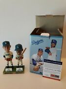 Maury Wills Signed 2012 Bobblehead Don Drysdale Psa/dna Los Angeles Dodgers