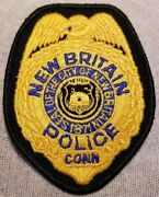 Ct New Britain Connecticut Police Patch