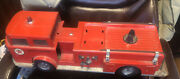 Vintage 25 Buddy L Texaco Fire Chief Toy Truck W/ Aged Patina