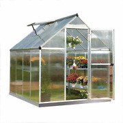 Walk-in Greenhouse Polycarbonate - Palram Mythos - 6and039 X 8and039 - Silver