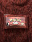 Pokemon Ruby Version Authentic Cart Nintendo Gameboy Advance Gba Tested