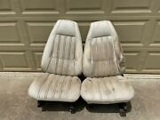 1971-1974 Mopar Bucket Seats B Body Tracks And Backs Super Bee Charger Pair