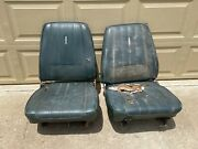 1967-1969 Mopar A Body Bucket Seats Low Back Fronts With Tracks Pair Dart Gt