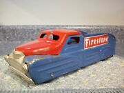 Vintage Marx Delivery Pick Up Toy Truck Firestone Tires Advertising Custom Nice