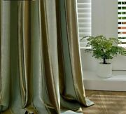 Jacquard Silk Shade Curtains Modern Simple Stripe Curtains For Bedroom Blind New