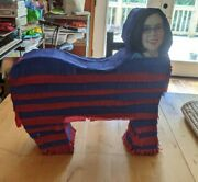 Governor Of Oregon Kate Brown Head On Red And Blue Donkey Party Pinata Bash