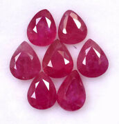 Natural Red Ruby 7x5 Mm Pear Cut Faceted Loose Gtl Certified Gemstone Lot Gf